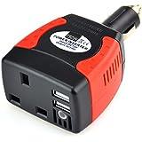 BESTEK® 150W Watt DC 12V To AC 230V Car Power Inverter Power Adapter Auto charger Iphone/Ipod/HTC/Samsung Charger DVD Player Power Satnav Power PSP Travel Power Supply MRI1513U-UK PLUG