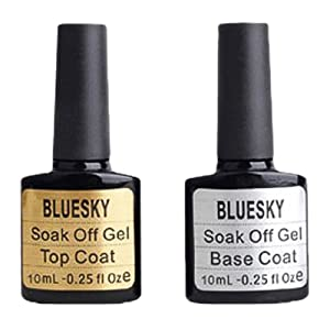 Bluesky Nail Gel 10ml Top and Base Coat