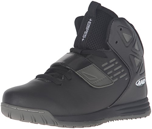 AND 1 Kids' Tempest Boys AU Skate Shoe, Black/Black/Gunmetal, 4 M US Big Kid