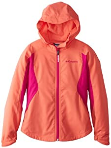 Columbia Girls 7-16 Splash Flash II Hooded Softshell Jacket, Hot Coral, Medium