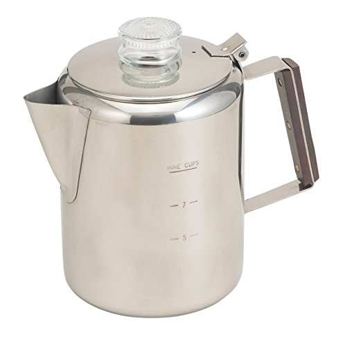 Rapid Brew Stainless Steel Stovetop Coffee Percolator 2-9 Cup Camping Maker 409 (Fom Coffee Cups compare prices)
