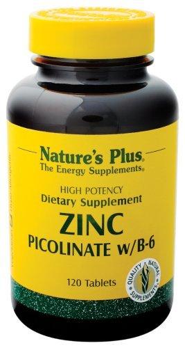 Nature'S Plus - Zinc Picolinate W/B-6, 30 Mg, 120 Tablets