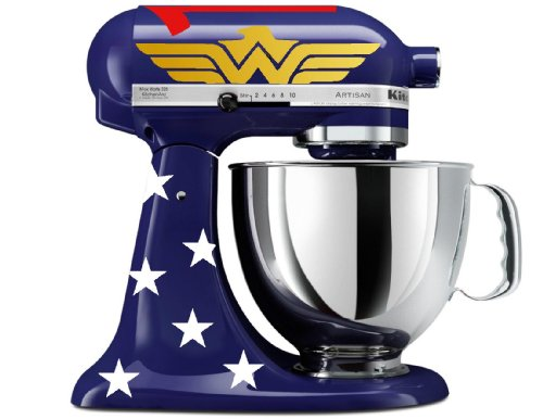 Amazonian Princess Decal Kit for BLUE Kitchenaid Stand Mixer, Wonder Woman Inspired Promo Offer