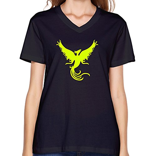 Goldfish Women'S Funny Quotes V Neck Yellow Phoenix T-Shirt Black Us Size S