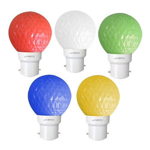 0.5W LED Bulb (Pack of 5)(Multicolor: Red, Blue, Yellow, Green & White)