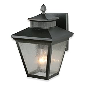 Royce Lighting RL2130/3NI Weston Outdoor Wall Lantern Natural Iron with Seeded Globe