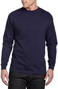 Soffe Men's Men'S Long Sleeve Cotton T-Shirt,Navy,XLG