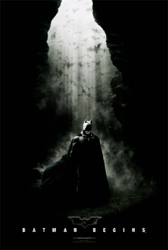 BATMAN BEGINS POSTER In a Cave RARE HOT 24X36 at Gotham City Store