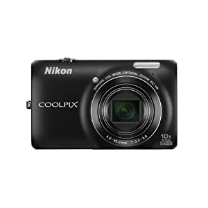 Nikon COOLPIX S6300 Point & Shoot Camera with 16MP, 10x Optical Zoom and 2.7 inch Screen (Black)
