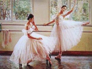 きれいなお姉さんは好きですか? 木漏れ日の中で バレエの稽古をする 美しい バレリーナ ポスター 45×60cm