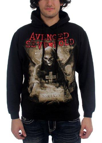 Avenged Sevenfold-Forever Felpa con cappuccio da uomo felpa con cappuccio in nero Black Small