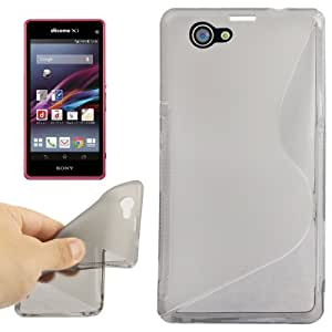 S Line Anti-skid Frosted TPU Case for Sony Xperia Z1 mini (Grey)