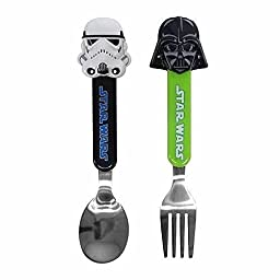 Childrens Flatware Set Star Wars Fork Spoon Kids Toddler Baby Silverware Stainless Steel Cutlery