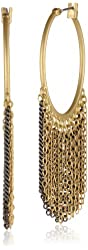 Kenneth Cole New York Springtime Rose Multi-Chain Fringe Hoop Earrings