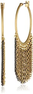 "Kenneth Cole New York ""Springtime Rose"" Multi-Chain Fringe Hoop Earrings"
