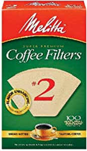 Melitta 622752 100-Count #2 Melitta Natural Brown Cone Coffee Filters