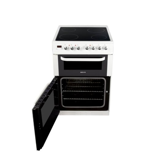 Servis DG60W 600mm Double Gas Cooker Minute Minder White