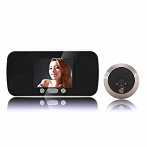 3.0 inch Slim Home Door Visitor Peephole Viewer Bell Ring Video Audio Record TF Card