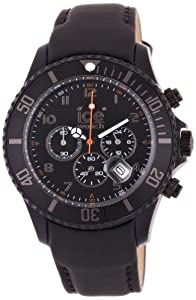 Ice-Watch - CH.BK.B.L.11 - Chrono - Montre Homme - Quartz Analogique - Cadran - Bracelet Cuir Noir