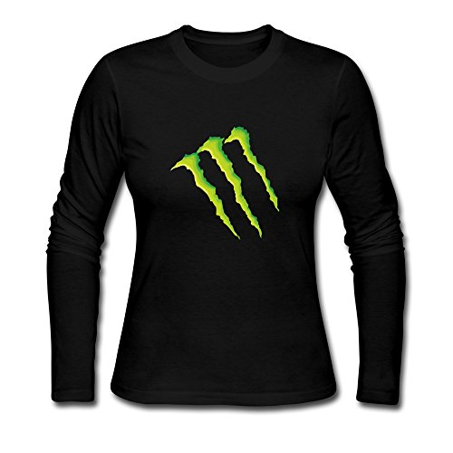 Clothing Women's Sammy Stunna Monster (Remix) Prod Long Sleeve T-shirts Small Black (Monster Energy Apparel Kids compare prices)