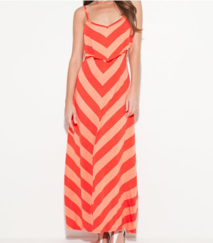 GUESS Evan Striped Tiered Dress