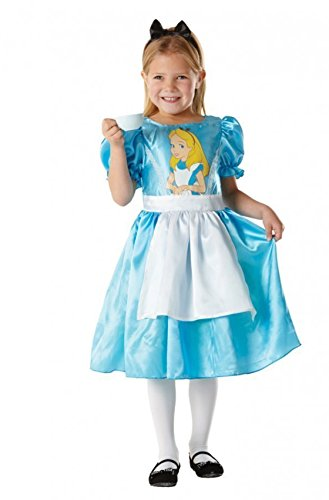 Kids Girls Small 3-4 Yrs Classic Alice In Wonderland Disney Fancy Dress Costume