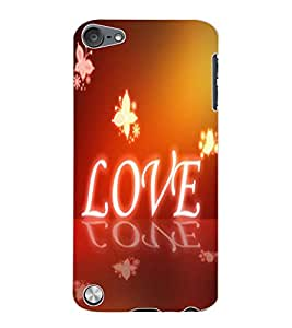 ColourCraft Love Image Design Back Case Cover for APPLE IPOD TOUCH 5