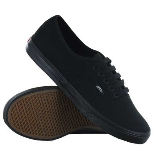 0b2bbe1198049b pictures of Vans Classic Authentic Lo Pro Black Black Womens Trainers Size  8.5 US
