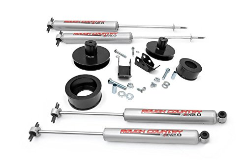 Rough Country - 658N2 - 2-inch Suspension Lift Kit w/ Premium N2.0 Shocks (04 Jeep Wrangler Tj Lift Kits compare prices)