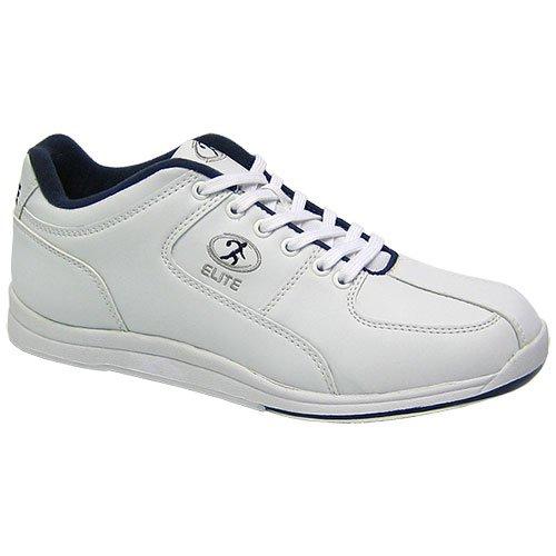 09. Elite Atlas White/Blue Bowling Shoes - Men