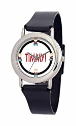 South Park Men's D1553SS414 Torino Collection Timmy Black Plastic Strap Watch