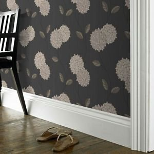 Superfresco Colour Pippa Wallpaper - Charcoal from New A-Brend