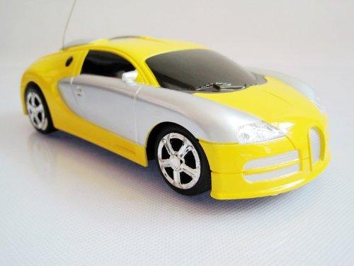 1:24 Bugatti Remote Control Car/car Model with Headlight Toy-yellow