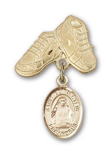 Icecarats Oro Gioielli Di Design Riempito St. Edith Stein Stivali Fascino Bambino Pin 1 X 5/8