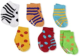 Trumpette Unisex-baby Newborn Bright Cheeritoes Sock Set, Multi, Small(0-12)