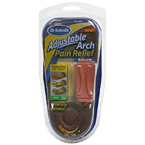 Dr Scholl's Adjustable Arch Pain Relief Orthotics, Men's 8-13, 1-Pair Packages (Pack of 2)