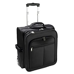 Black Executive Laptop Travel Cabin / Flight Case - Business Trolley / Wheeled Bag