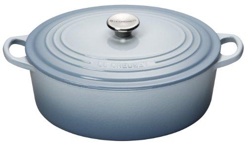 Le Creuset 29 cm Cast Iron Oval Casserole, Coastal Blue