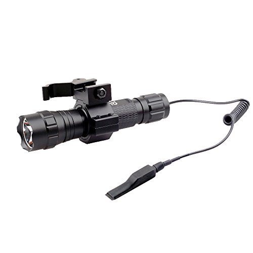 CISNO New L2 LED 1000LM Tactical Flashlight Light with Quick Release Picatinny Rail Mount+Pressure Switch for Picatinny Quad Rail (Quad Picatinny compare prices)