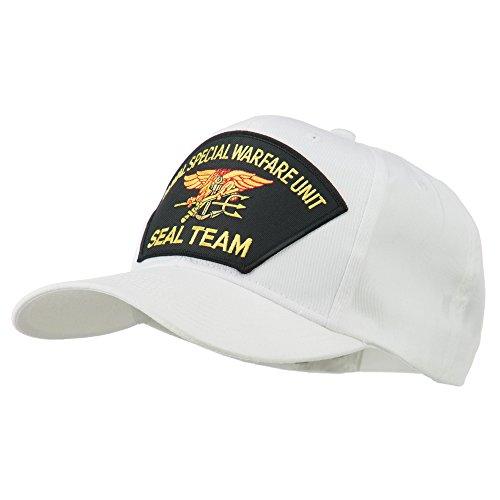 Us Navy Seal Team Warfare Patch Cap - White Osfm