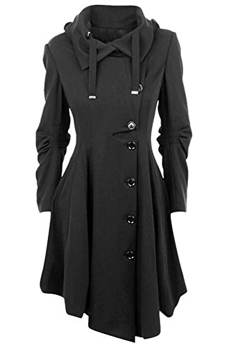 ETCYY-Womens-Black-Button-Asymmetrical-Winter-Long-Trench-Jackets-Coat