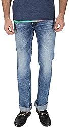 EASIES Men's Slim Fit Jeans (1099 Bndft Wldind_30, Blue, 30)