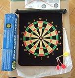 Funny Dual Side Magnetic Dart Board Toy w 3 Darts