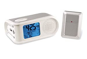 Maverick R-395 Color-Coded LCD Weather Station and AM/FM Radio with Atomic Alarm Clock (Silver) at Sears.com