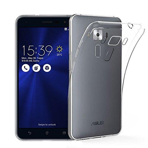 【Qosea】Asus Zenfone 3 ZE520KLケース カバー 高品質TPU シリコン ケース 落下防止 防指紋 超薄型、軽量TPU素材 ケース ソフト クリア (Asus Zenfone 3 ZE520KL, 透明)