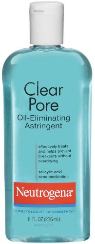 NeutrogenaClear Pore Oil Eliminating Astringent, 8 Ounce