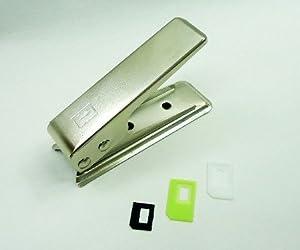 NanoSIM カッター 3種のアダプタ付 iPhone5/iPhone4S/4用 通常サイズのSIMをnanoSIMサイズに簡単にカット