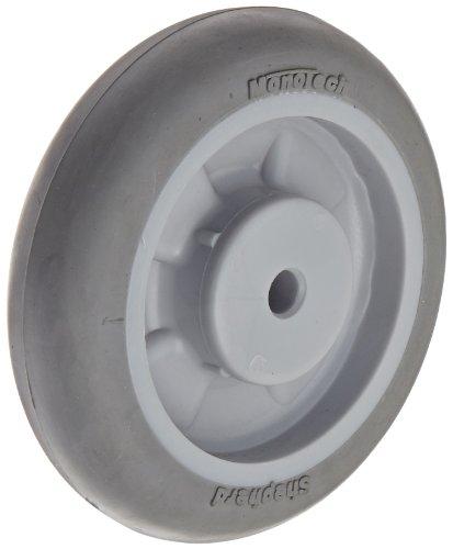"Shepherd 009003 Regent/Monarch 4"" Diameter x 1"" Width MonoTech Light Duty Wheel with Plain Bore Bearing, 150 lbs Capacity, Gray - 1"