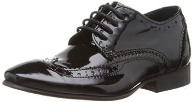 Step2wo Boys Sonny Brogue 513055C Black Patent 4 UK, 37 EU, 4.5 US, Regular
