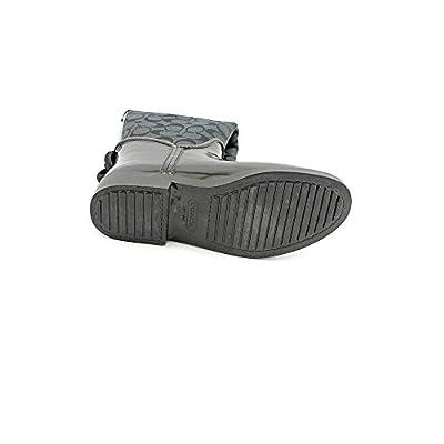 Coach Women's Tristee Signature Jacquard & Rubber Rain Boots, Style A7431